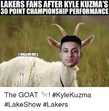 They proceeded to make some pretty hilarious kyle kuzma memes, mostly. Lakers Fans After Kyle Kuzma S 30 Point Championship Performance Onbamemes The Goat Kylekuzma Lakeshow Lakers Los Angeles Lakers Meme On Ballmemes Com