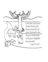 Free Bible Coloring Page The Good Samaritan