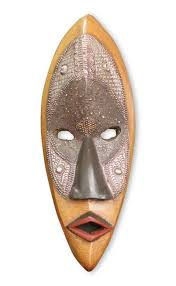 african wood mask lulua protector african tribal mask