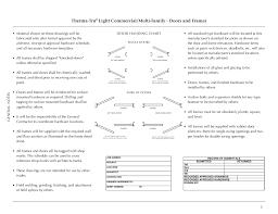 Commercial Door Handing Chart Therma Tru Light Commercial Doors And Frames Users Manual
