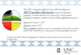 unc chapel hill essay feedback american indian center 2017 carolina horizons applications closed