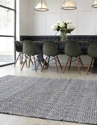 sloan black flatweave rugs by asiatic 120 x 170 cm
