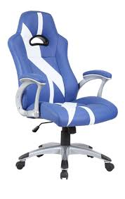 white unique office chairs. Blue \u0026 White Stripe Racing Sports Style Office Computer Desk Chair Unique Chairs A