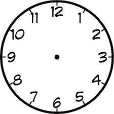 Printable Clocks Math Clock Template Printable Face Clip Art