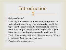 the art of the essay introduction  get passionate