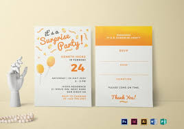 Party Invitaion Templates 26 Surprise Birthday Invitation Templates Free Sample Example