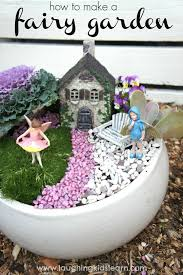 how to make fairy gardens. Fine Gardens Colored Pebble Fairy Garden In A White Ceramic Pot On How To Make Gardens M