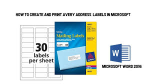 How To Print Avery 5160 Labels In Word How To Create And Print Avery Address Labels In Microsoft Word Youtube