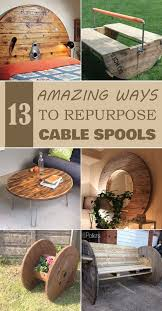 wood projects 13 amazing ways to repurpose cable spools