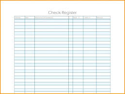 Large Printable Check Register For Checkbook 4 Print Registers