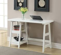 hallway office ideas. Hallway Office Ideas. Antique Modern Trestle Table Desk With Storage And Bookshelf Painted White Color Ideas G