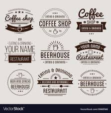 Vintage Logo Vector Vintage Logo Coffee Shop Template Restaurant Vector Image