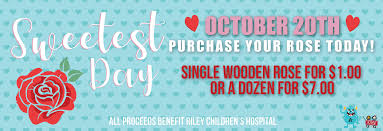 sweetest day october 20 purchase your rose today single wooden rose 1 00 each