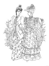 Creative Haven Art Nouveau Fashions Coloring