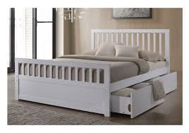 Sleep Design Delamere 4ft6 Double White Wooden Storage Bed Frame by Sleep  Design