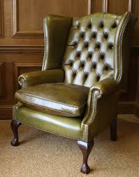 high back leather chairs. The High Back Georgian Leather Wing Chair In With Claw \u0026 Ball Legs Chairs