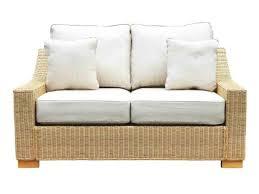 regal wicker med 2 seat sofa