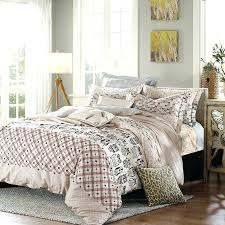 geometric duvet cover owl bedding sets queen king size cotton printed fabric plaid geometric duvet
