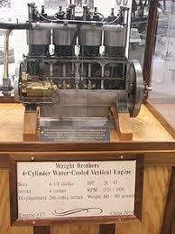 Двигатель внутреннего сгорания Википедия Двигатель использованный братьями Райт в 1910 году
