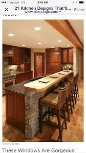 Under Bar Design Use Stone Under Bar To Match Stone On Fireplace Kitchen