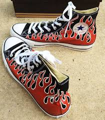 converse for kids. custom converse kids, kids red flame converse, shoes, for