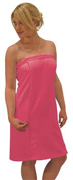 Womens 3 Piece Bath Towel Wrap Spa Set Hair Towel Body Sponge