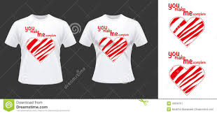 Nice Couple Shirt Designs Couple T Shirt Desdign With Hearts Stock Vector