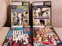 Lot 4 Xbox 360 Kinect Games