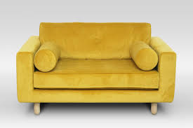 avenue yellow velvet loveseat – crowdyhouse