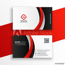 Card Design Template Awesome Red Business Card Design Template Buy This Stock