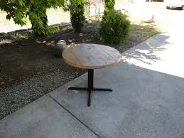 30 inch round restaurant pedestal dining table by
