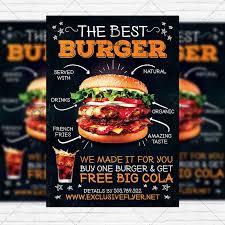 i need flyers made fast burger restaurant premium flyer template instagram size flyer