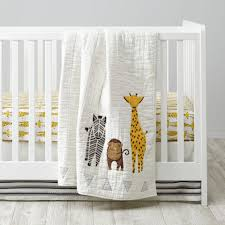 Savanna Safari Crib Bedding The Land Of Nod Bedding Cr Savanna Giraffe