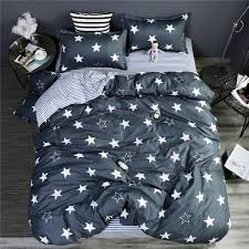 homeinn stars printed cotton 4pcs duvet cover bedding set for bedroom domitory as picture 4 6