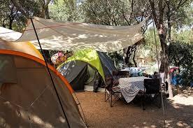 Tenda Campeggio Con Bagno : Piazzola camping tenda giens