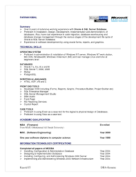 Oracle Dba Resume Examples Sql Server Resume Sample Resume Cv