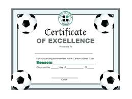 Free Soccer Certificate Templates Soccer Award Certificate Template Lapos Co