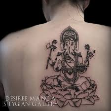 Ganesh Linework Tattoo Desireemancia Stygian Gallery