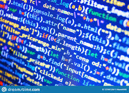 Monitor Closeup Of Function Source Code Abstract Source Code