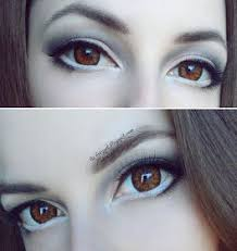 big anime eyes makeup tutorial eye enlarging with contact lenses doll look in 2018