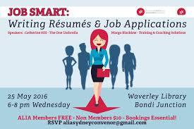 Alia Sydney Job Smart Writing Resumes And Job Applications
