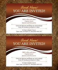001 Church Invite Cards Template Awesome With