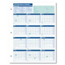 Absentee Calendar Monthly Employee Attendance Calendar Sheets Blank Forms
