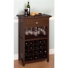... Cabinet With Drawer And Glass Wooden Wine Racks Shelf Ideas: Appealing Wooden  Wine ...