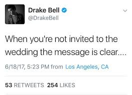 drake bell severs ties with josh peck after not getting an invite Not Invited To Wedding Hurt Not Invited To Wedding Hurt #18 not invited to wedding but bridal shower