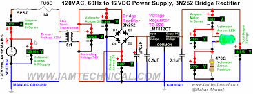 regulated 120vac to 12vdc power supply using voltage regulator 12V Hydraulic Pump Wiring Diagram lm7812 voltage regulator circuit diagram regulated 120vac to 12vdc power supply using voltage regulator lm7812ct, bridge rectifier 3n252