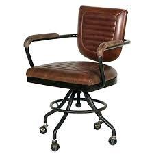 Top Grain Leather Office Chair Industrial Desk Brown  Tan  N79