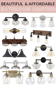 Affordable Bathroom Light Fixtures Affordable Farmhouse Style Bathroom Lighting Maebells