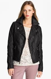 michael kors leather jacket with hood
