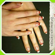 Acrylic french manicure , black and white nail art designs | Needy ...